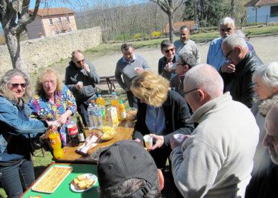 AG afa43 repas en extérieur à Brioude le 31 mars 2019 -2