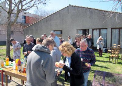 AG afa43 repas en extérieur à Brioude le 31 mars 2019
