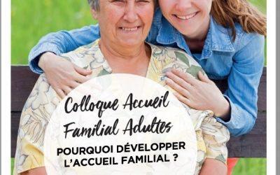 Colloque Accueil Familial Adultes – 18 Octobre 2019